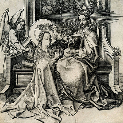 Martin Schongauer, The Coronation of the Virgin