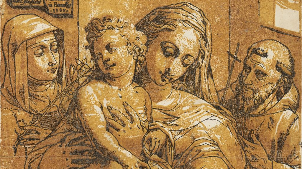 Andrea Andreani Madonna and Child accompanied by the Infant Saint John the Baptist